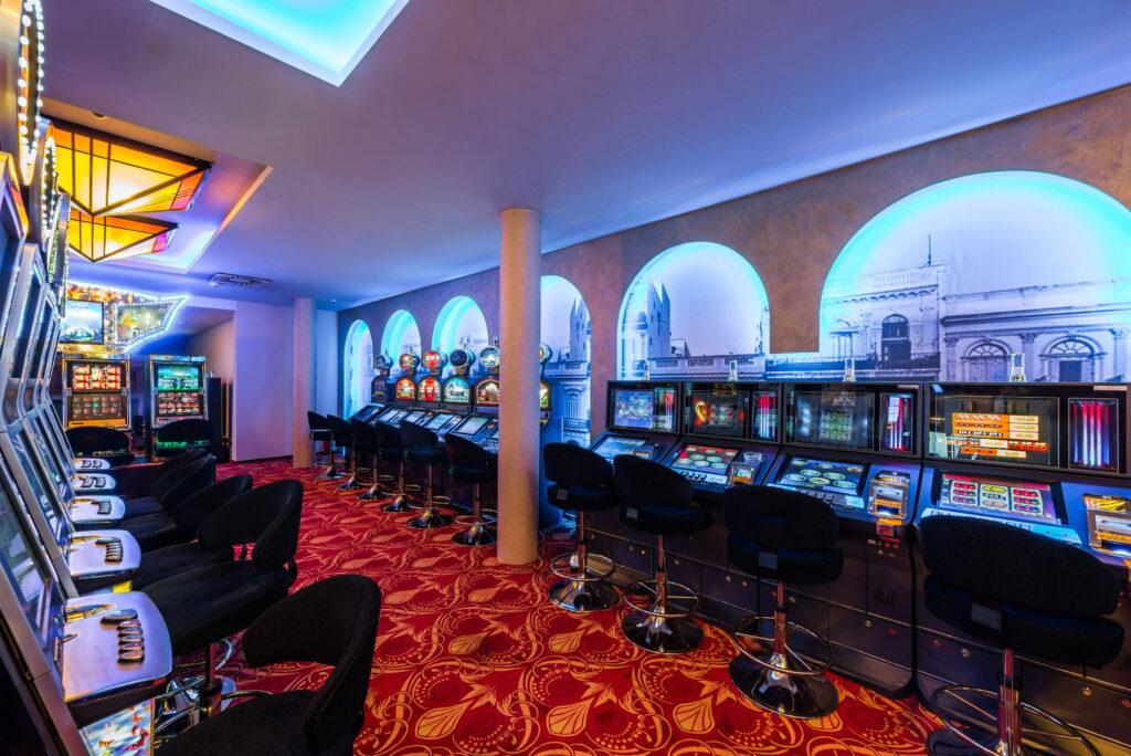 casino floor with gaming machines
